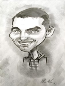 live style black and white caricatures order online