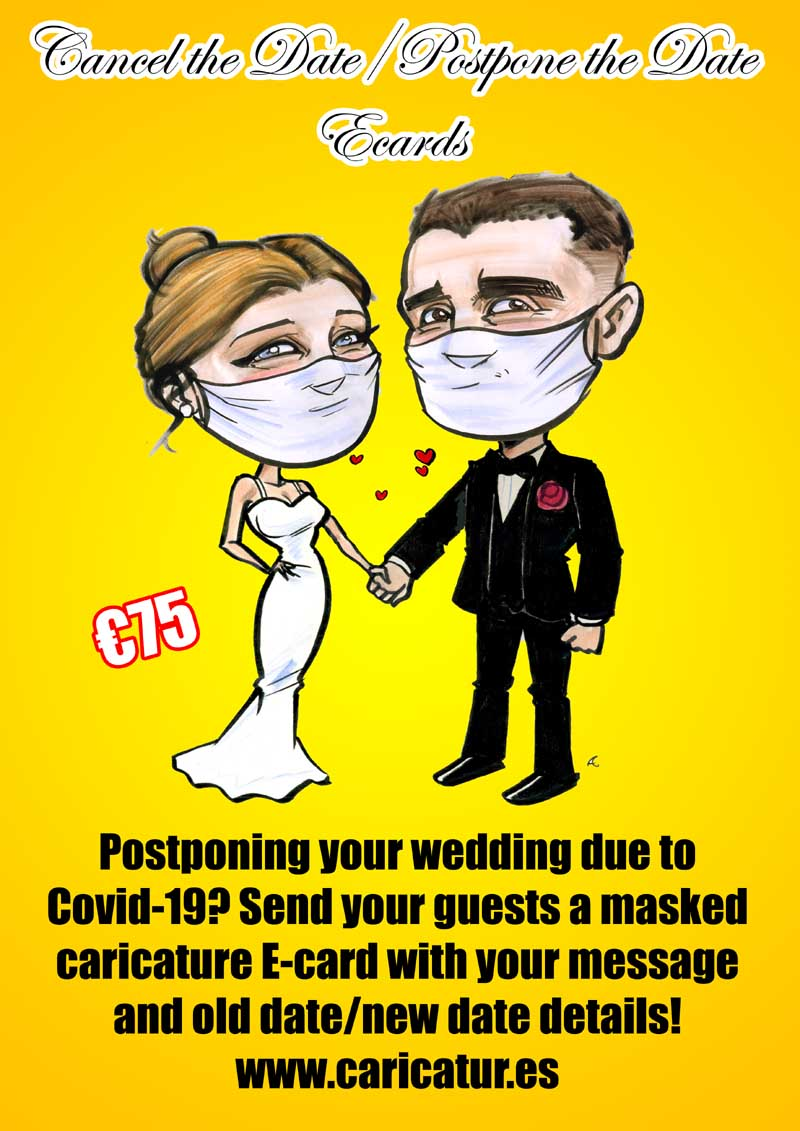 CANCEL THE DATE POSTPONE THE DATE WEDDING ECARDS CARICATURE 800PX