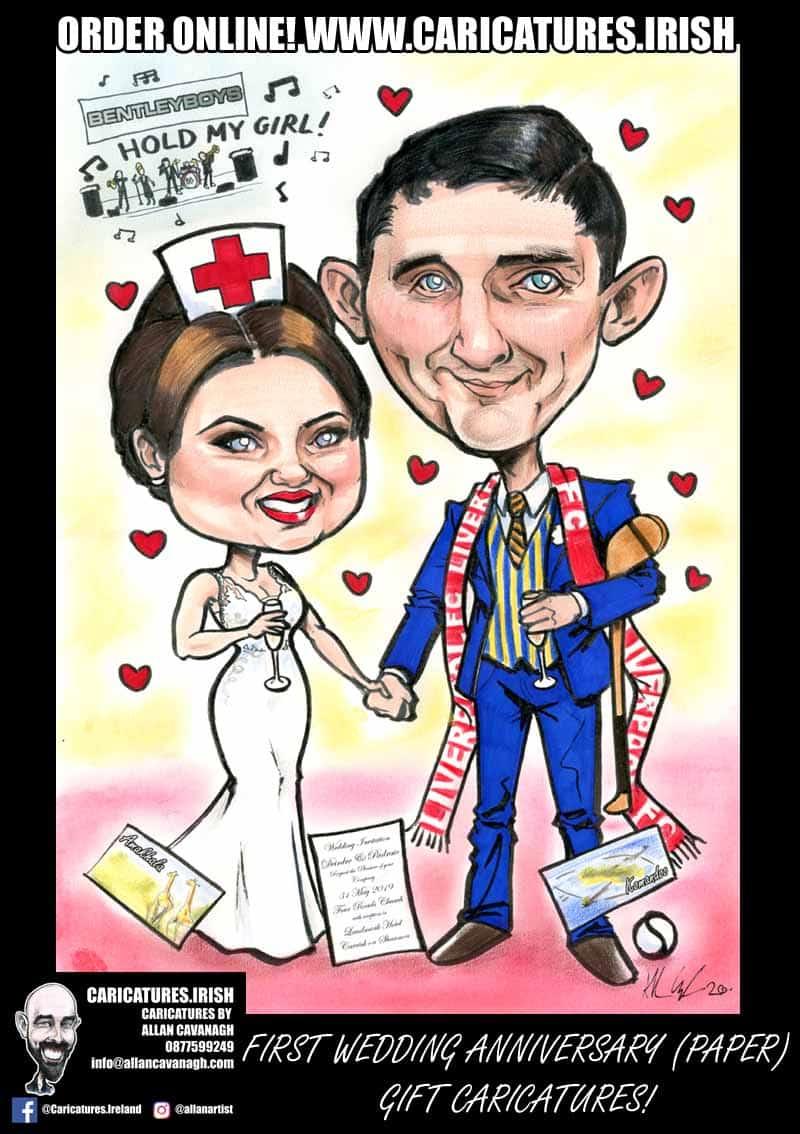 1st first wedding anniversary gift paper anniversary present ireland