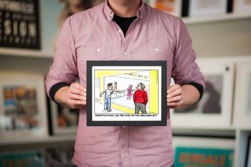 dad joke cartoon framed buy online
