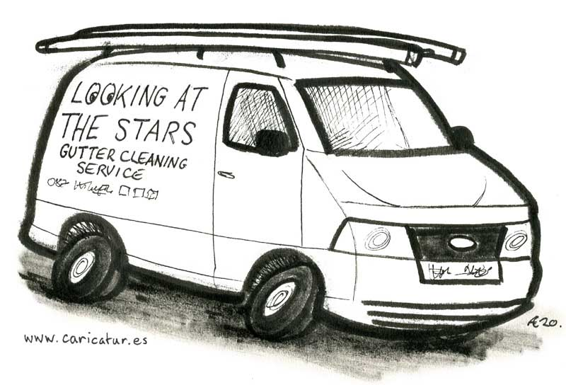 oscar wilde gutter looking at the stars cartoon