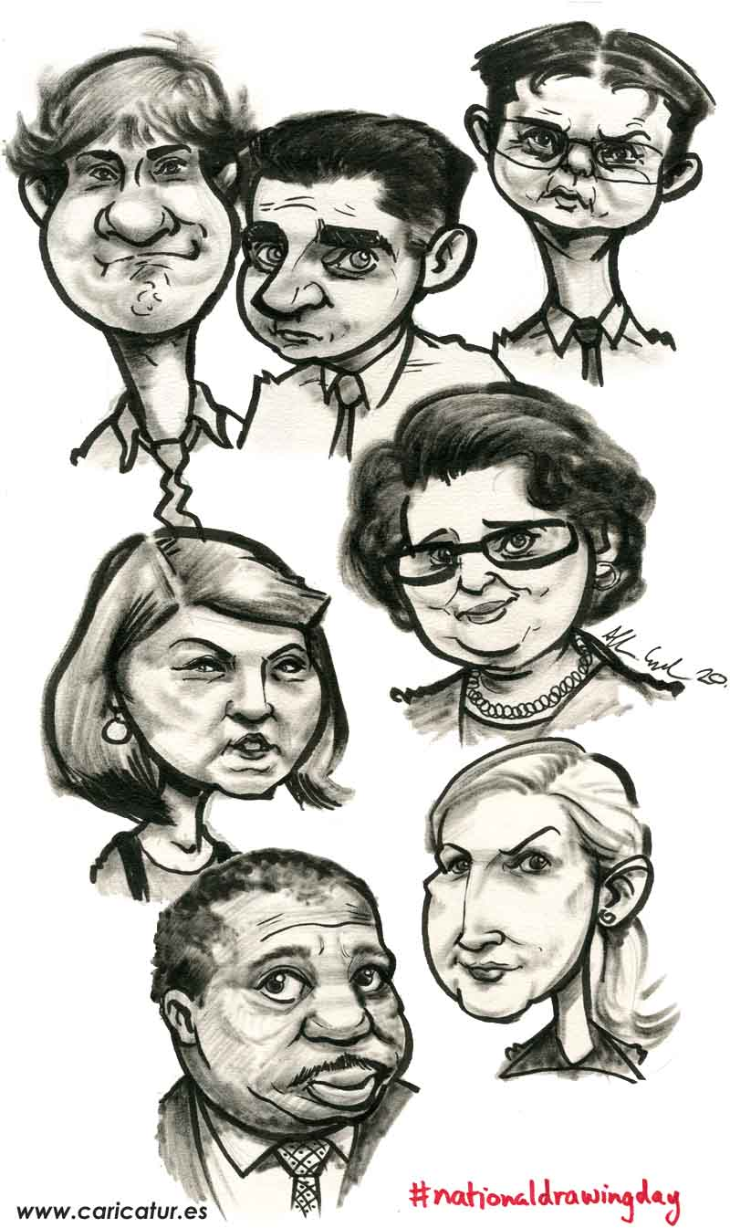 the office us caricatures tv series
