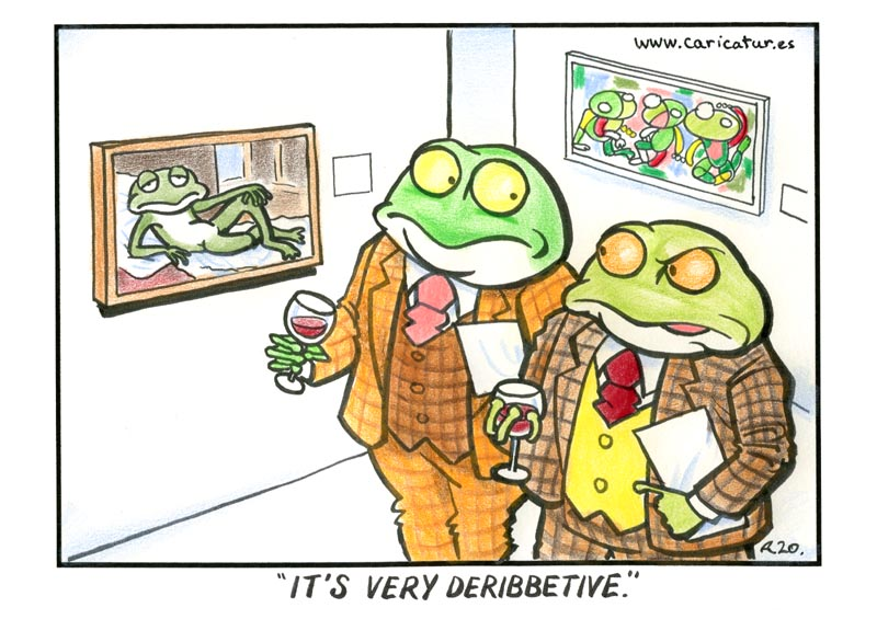 DERIBBETIVE FROG CARTOON
