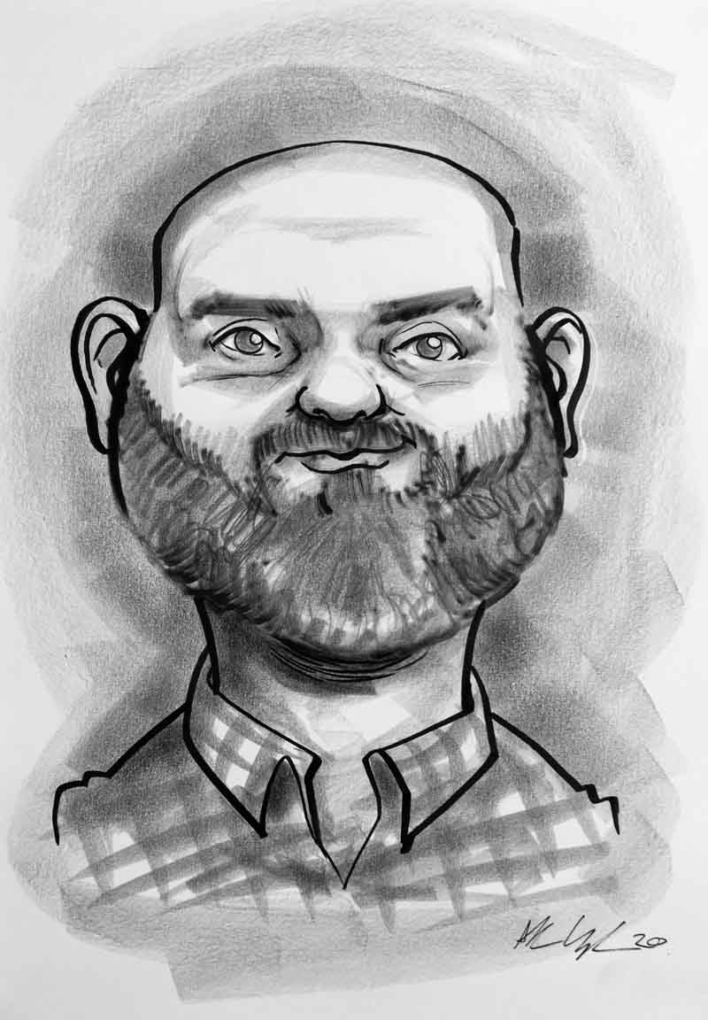 caricature gifts for dads ireland