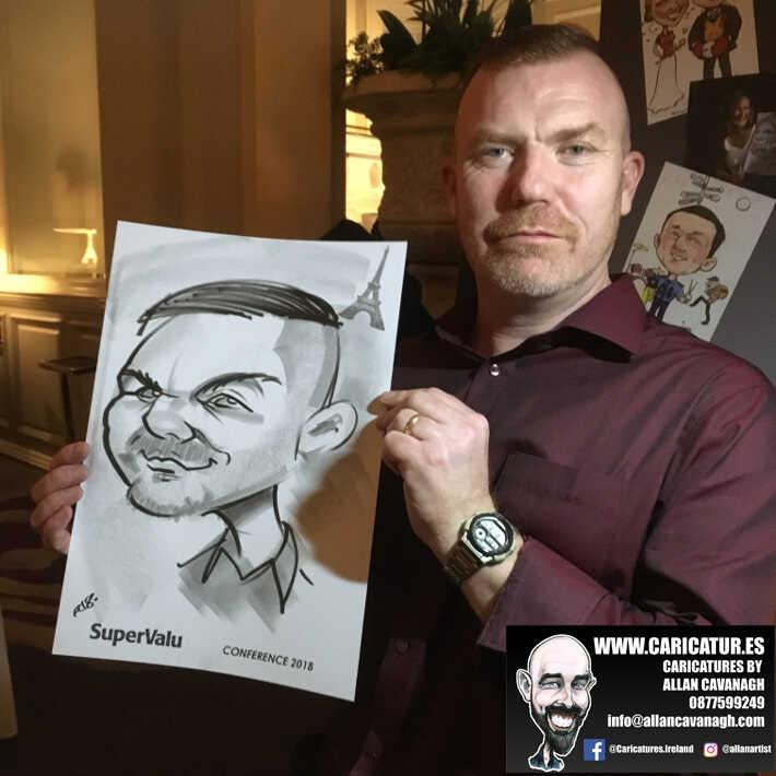 corporate entertainment ideas killarney kerry ireland caricature artist branding opportunity 12