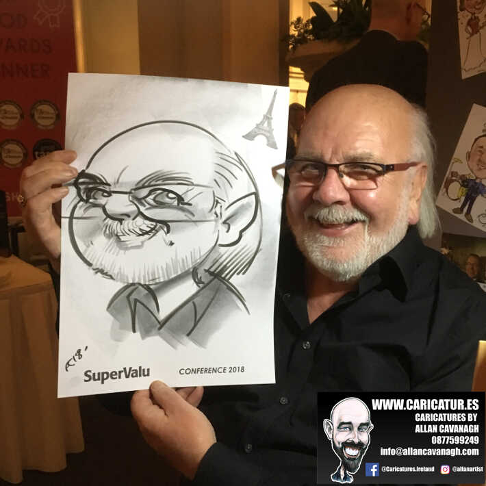 corporate entertainment ideas killarney kerry ireland caricature artist branding opportunity 15