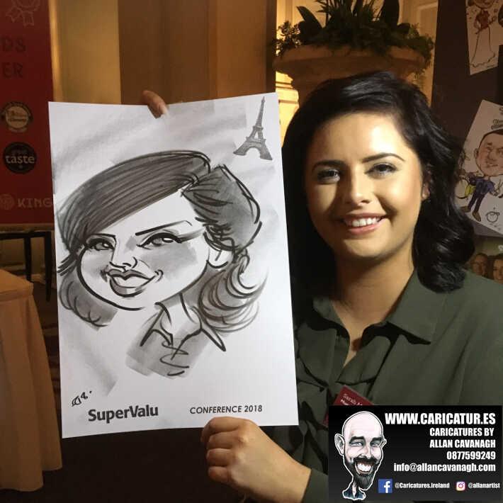 corporate entertainment ideas killarney kerry ireland caricature artist branding opportunity 16