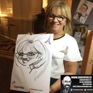 corporate entertainment ideas killarney kerry ireland caricature artist branding opportunity 23