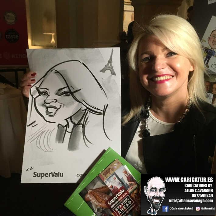 corporate entertainment ideas killarney kerry ireland caricature artist branding opportunity 25