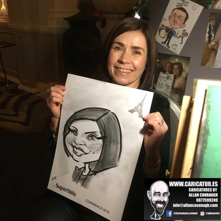 corporate entertainment ideas killarney kerry ireland caricature artist branding opportunity 31