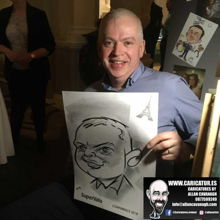 corporate entertainment ideas killarney kerry ireland caricature artist branding opportunity 32