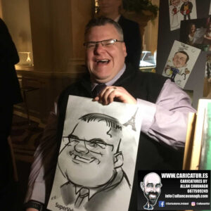 corporate entertainment ideas killarney kerry ireland caricature artist branding opportunity 33