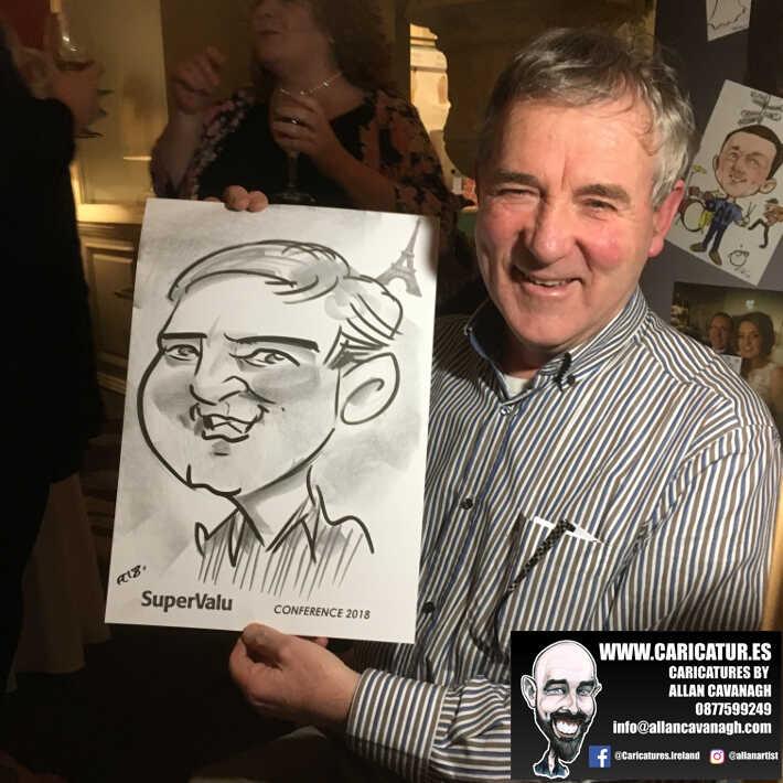 corporate entertainment ideas killarney kerry ireland caricature artist branding opportunity 35