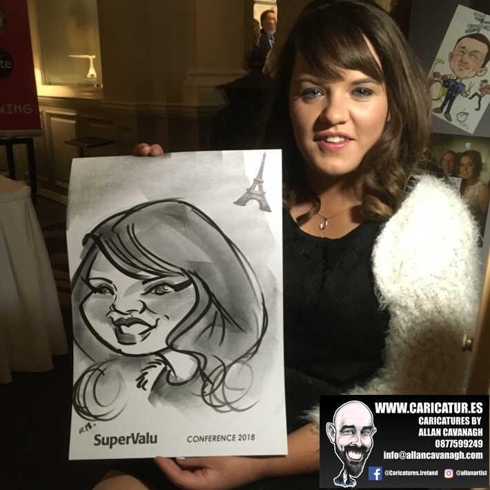 corporate entertainment ideas killarney kerry ireland caricature artist branding opportunity 36