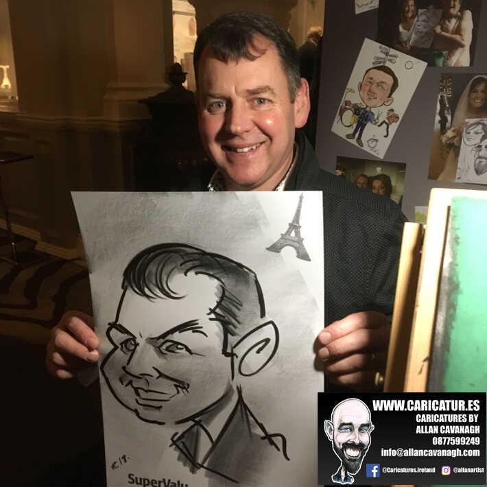corporate entertainment ideas killarney kerry ireland caricature artist branding opportunity 37