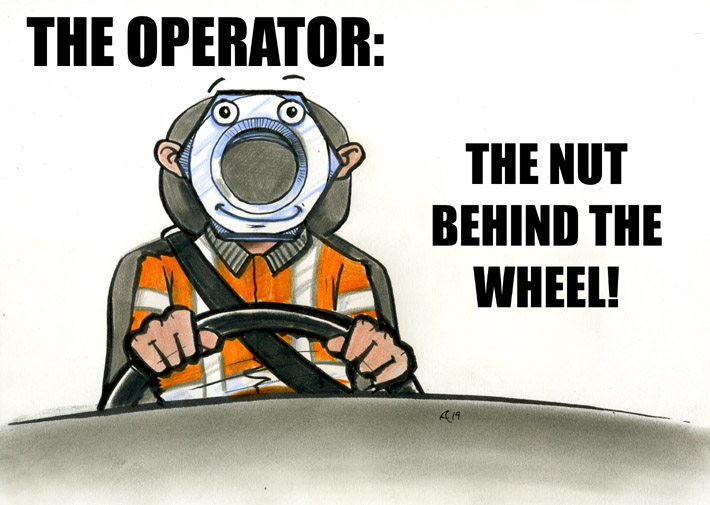 operator the nut behind the wheel