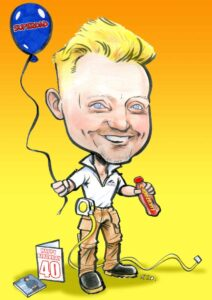 digital caricature order online allan cavanagh father birthday present