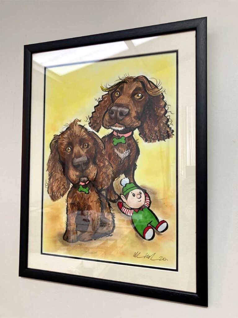 framed pet portraits ireland