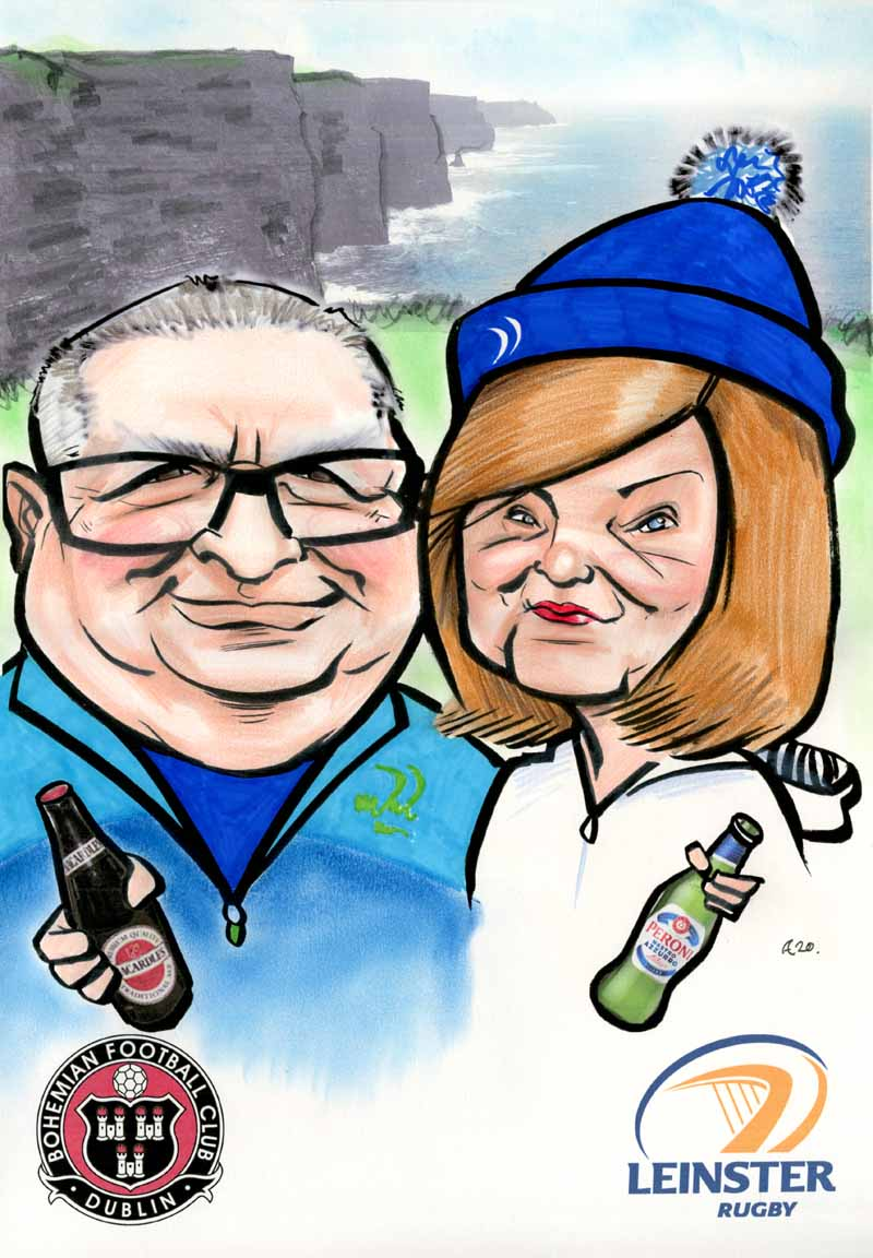personalised caricature ireland