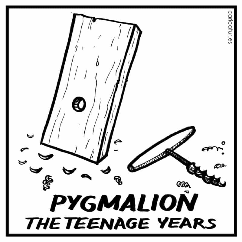 Pygmalion cartoon 800px