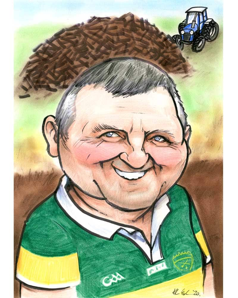 The Turfcutter Caricature