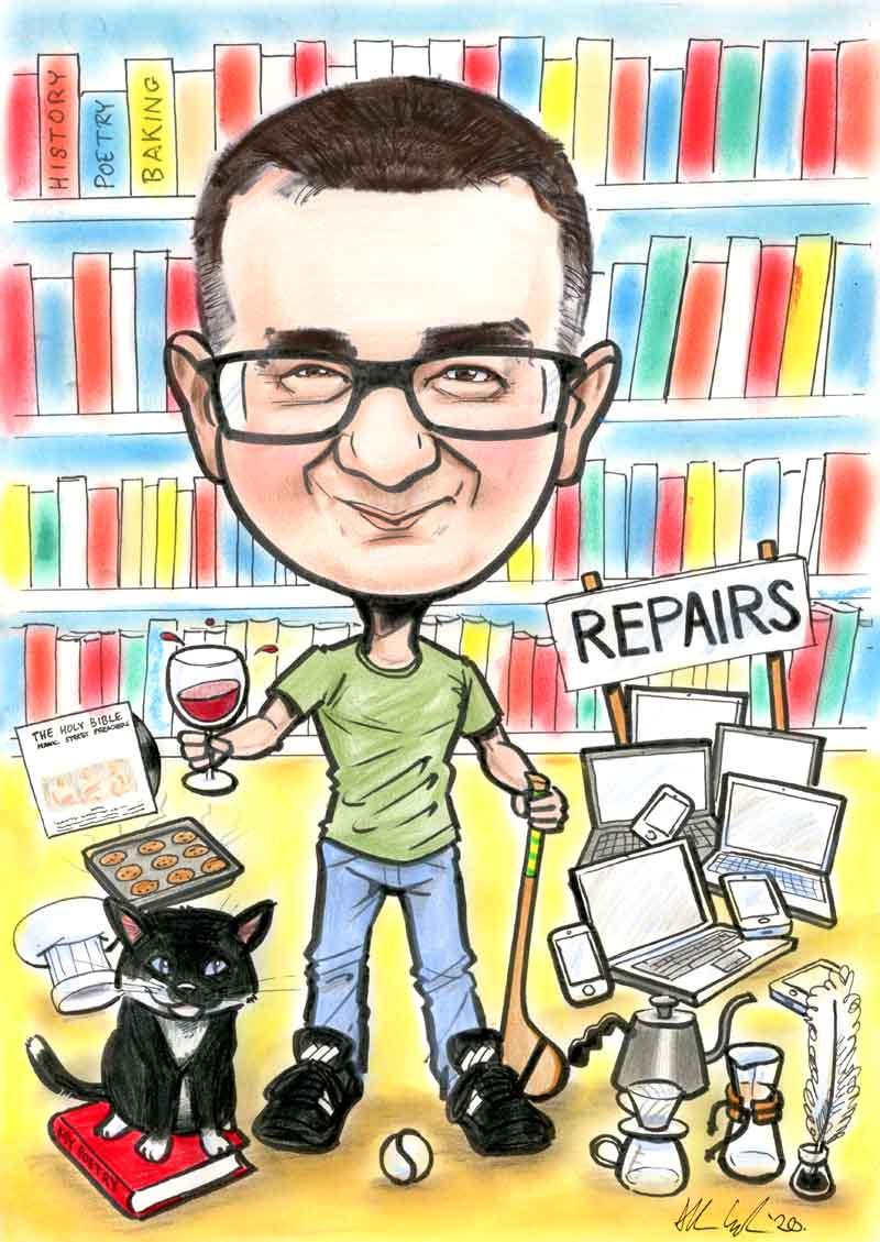 birthday gift caricature ireland allan cavanagh