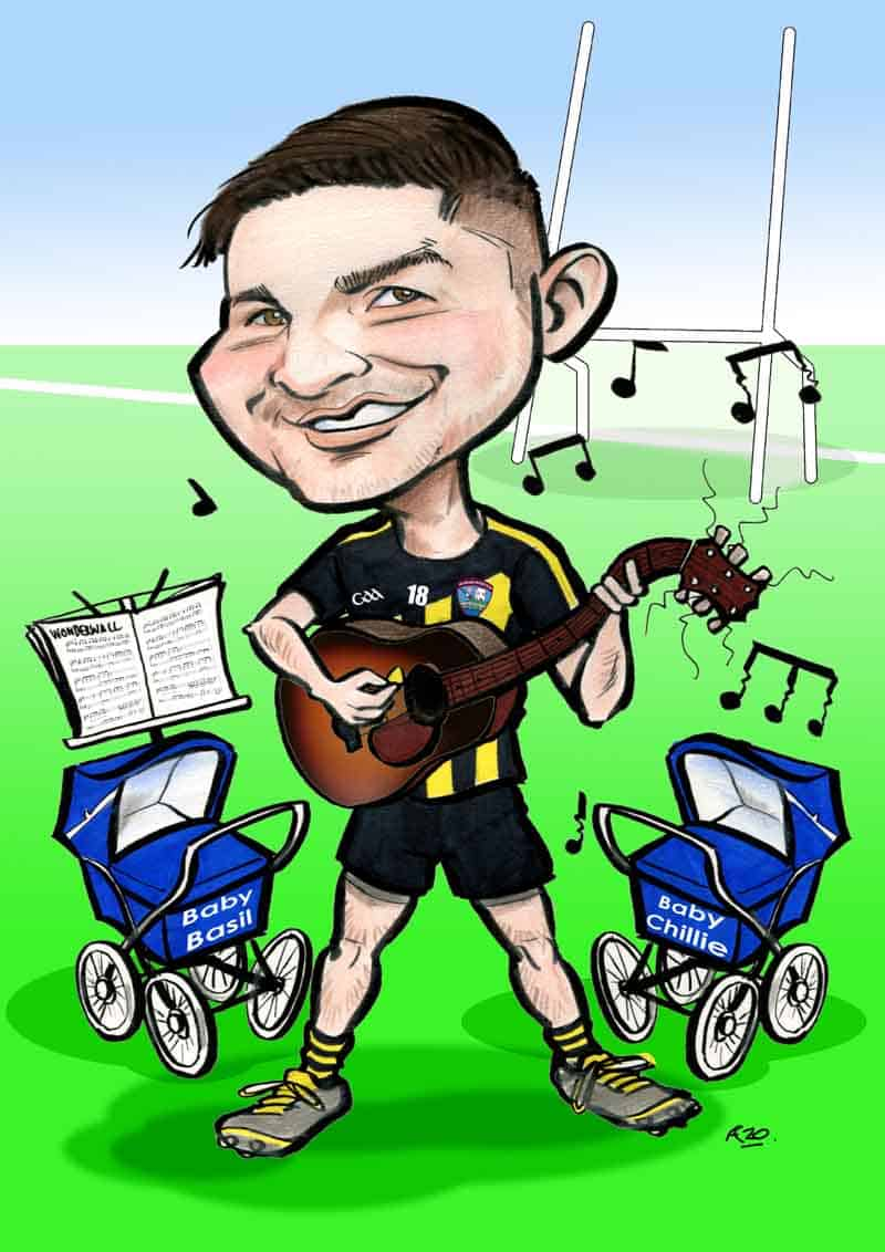 digital caricatures ireland delivered by email