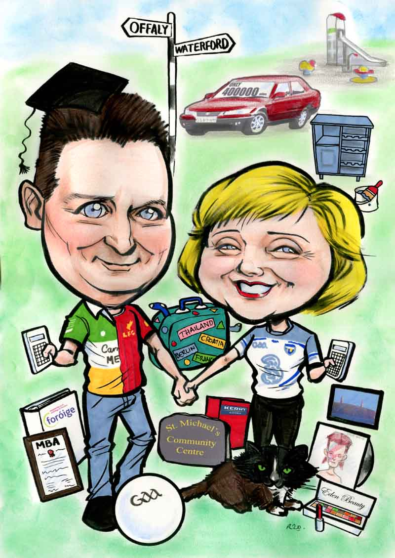 going away gift ideas ireland allan cavanagh caricatures
