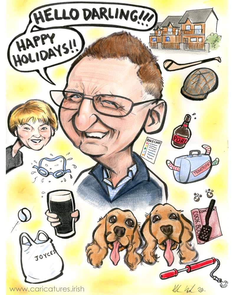 caricature artist galway personalised caricatures from photos allan cavanagh