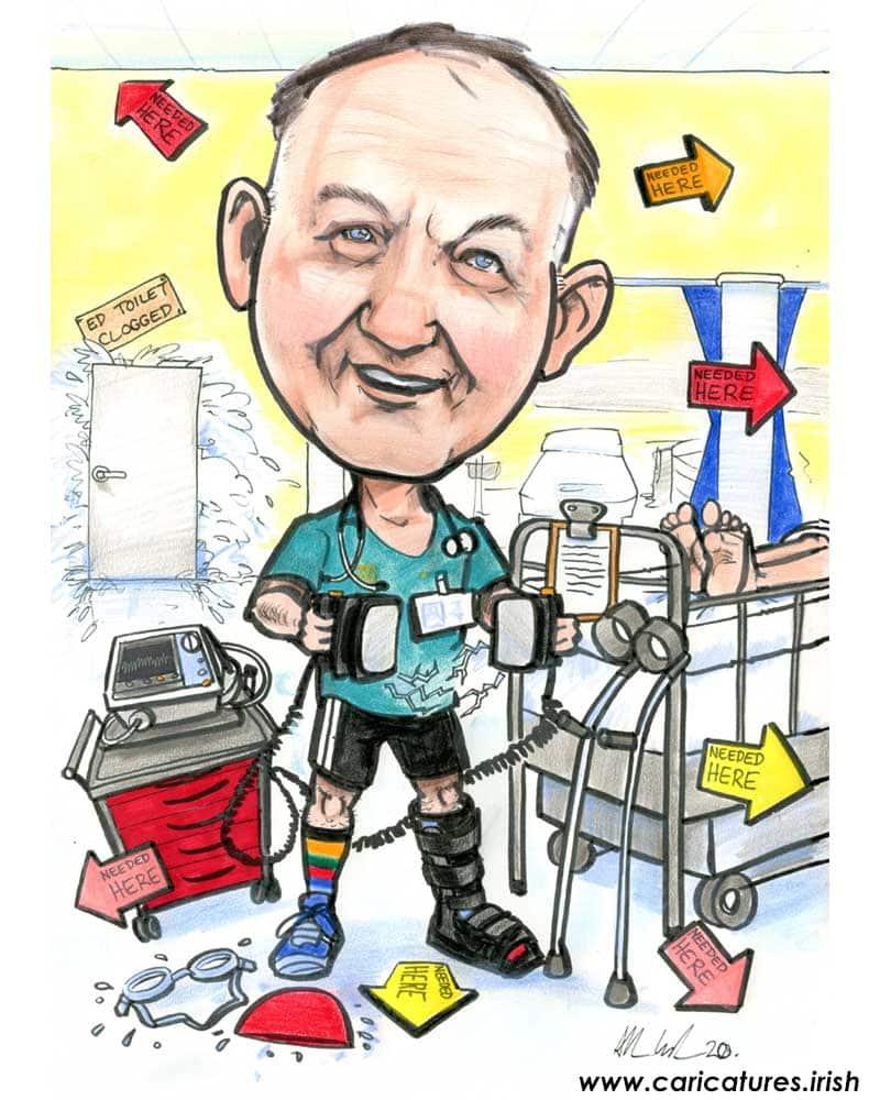 consultant birthday present personalised caricature allan cavanagh