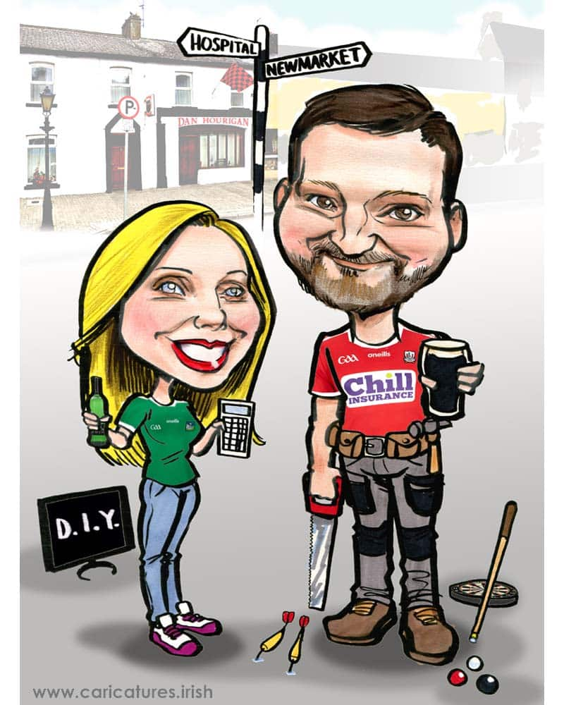 personalised caricature from photos ireland accountant carpenter allan cavanagh