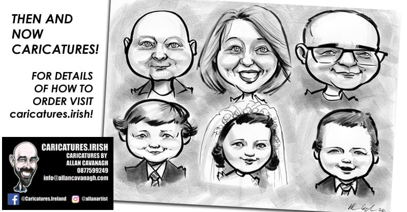 personalised caricatures communion photos