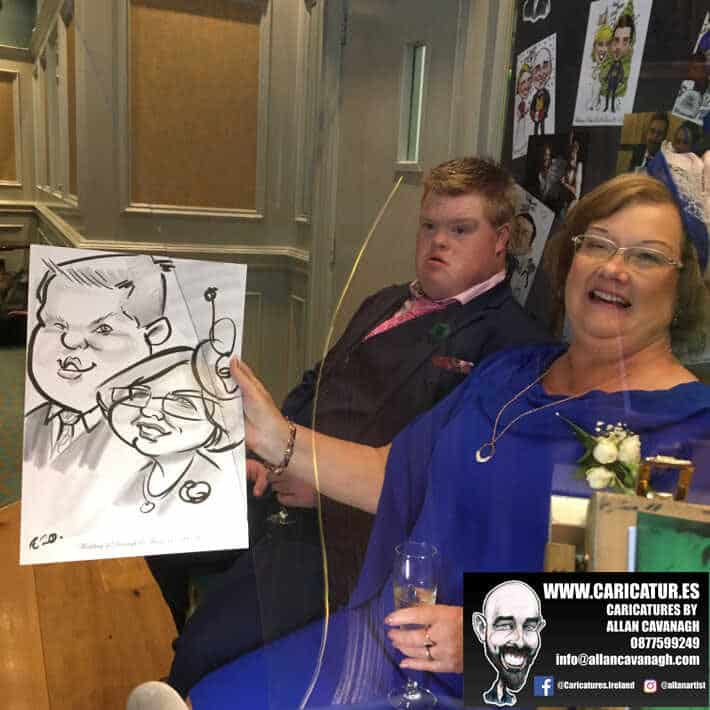 wedding entertainment live caricatures old ground hotel ennis allan cavanagh 8