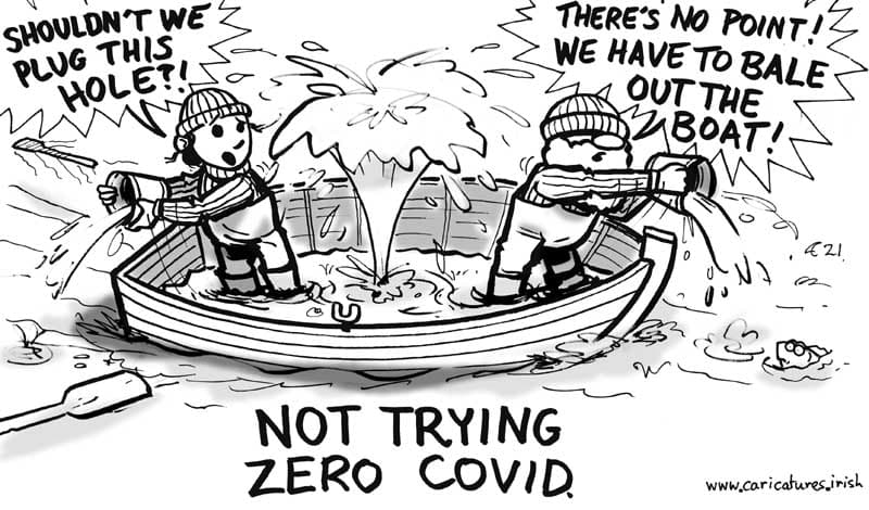 zero covid cartoon allan cavanagh