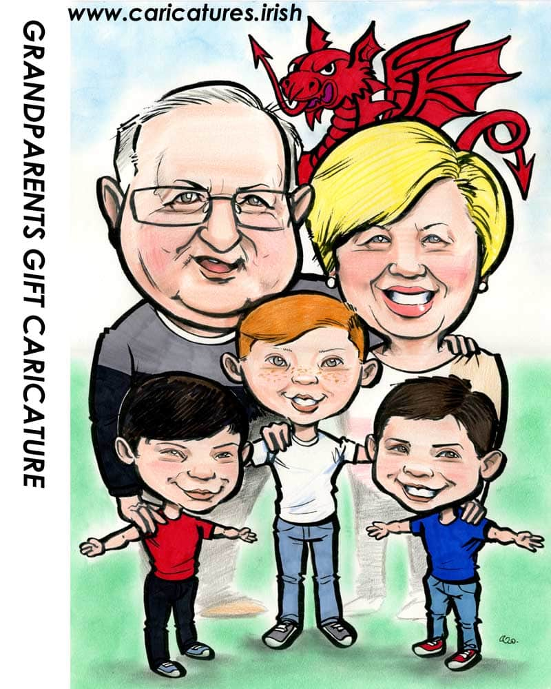 Grandparents Gift Caricature