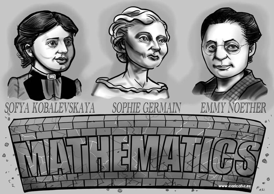 Sofya Kovalevskaya Sophie Germain Emmy Noether Portraits