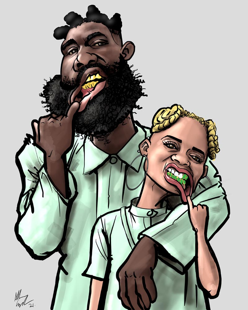 Tobe Nwigwe Fat Art Drawing Caricature Instagram