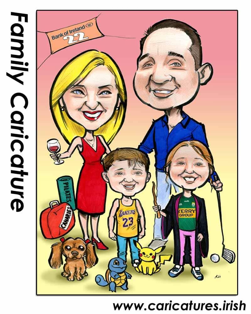 family portrait caricature allan cavanagh