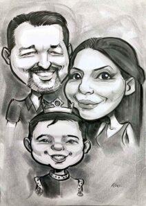 family portrait ireland personalised caricature