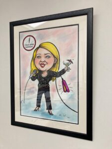 framed personalised caricature art gifts ireland