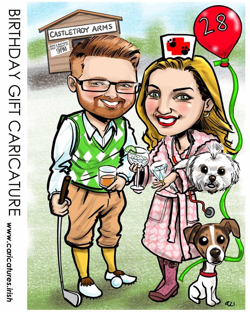 Birthday Gift Caricature Allan Cavanagh