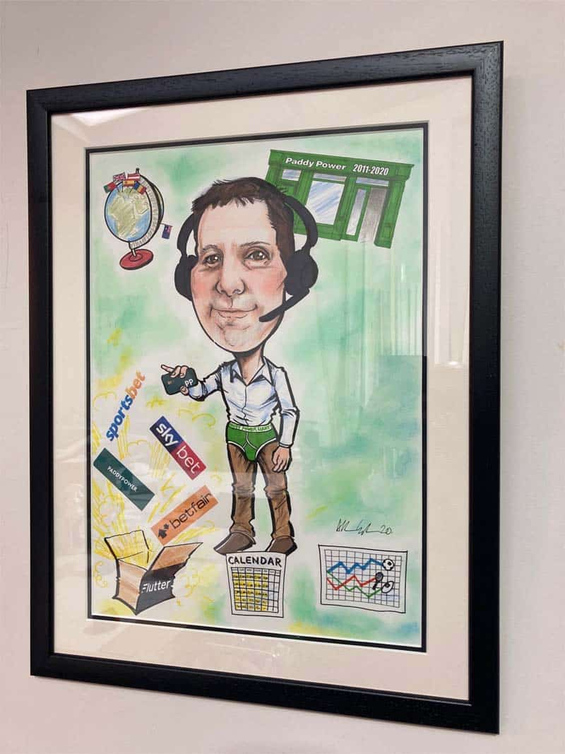 Framed personalised caricature from photos allan cavanagh