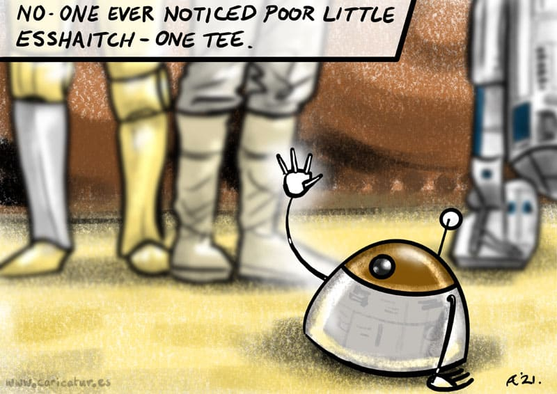 STAR WARS Droids Jawa Sandcrawler Luke C3PO R2D2 Tatooine Cartoon Allan Cavanagh