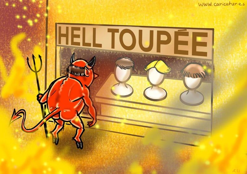 Hell Toupee Cartoon Allan Cavanagh