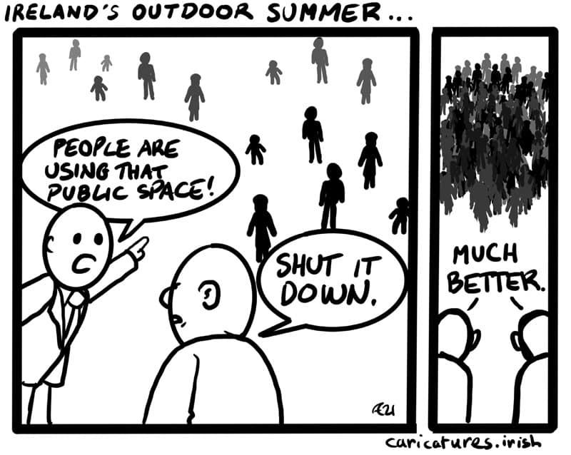 IRELANDS OUTDOOR SUMMER CARTOON