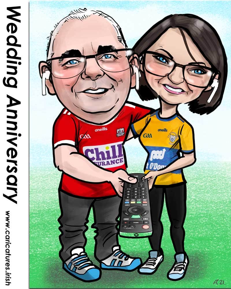 wedding anniversary gift caricature from photos