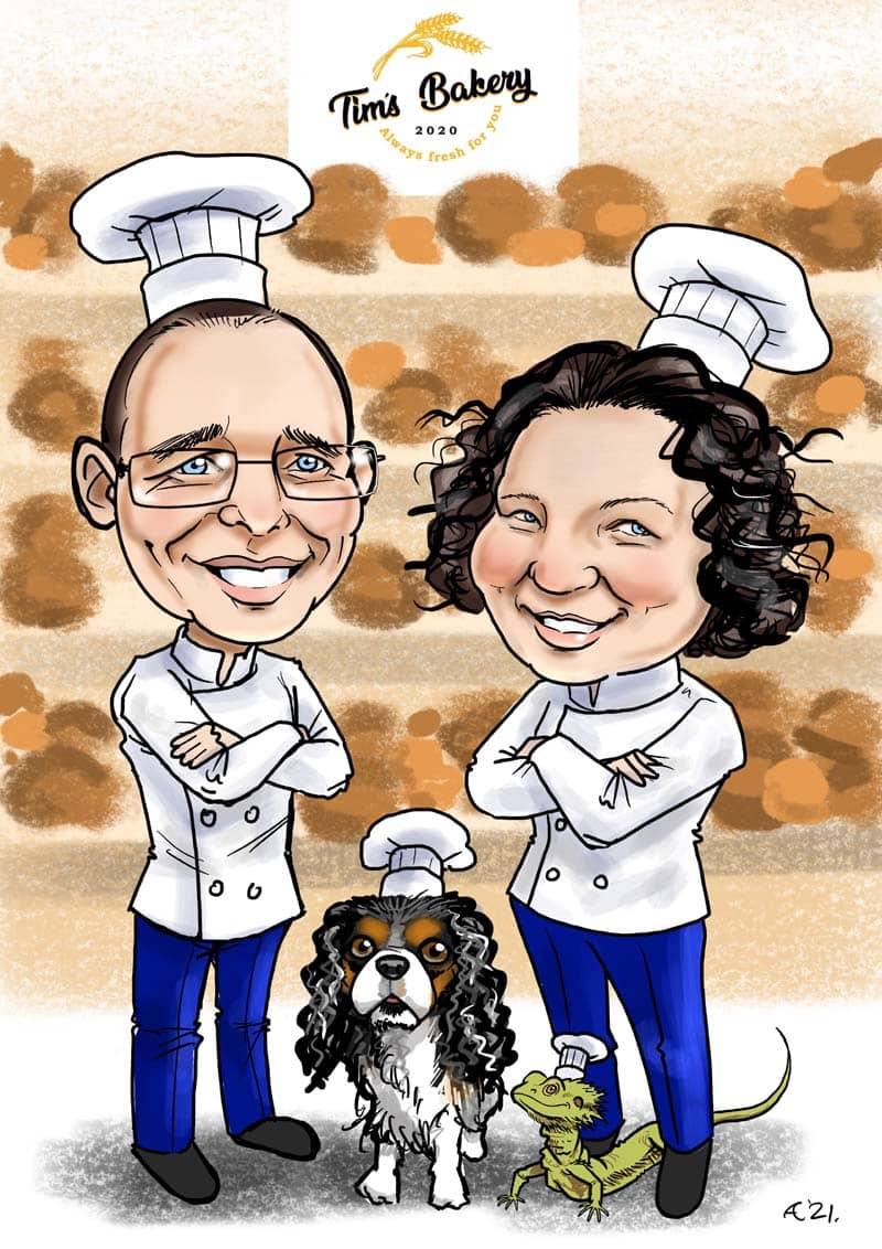 businesswarming gift caricature online ireland allan cavanagh