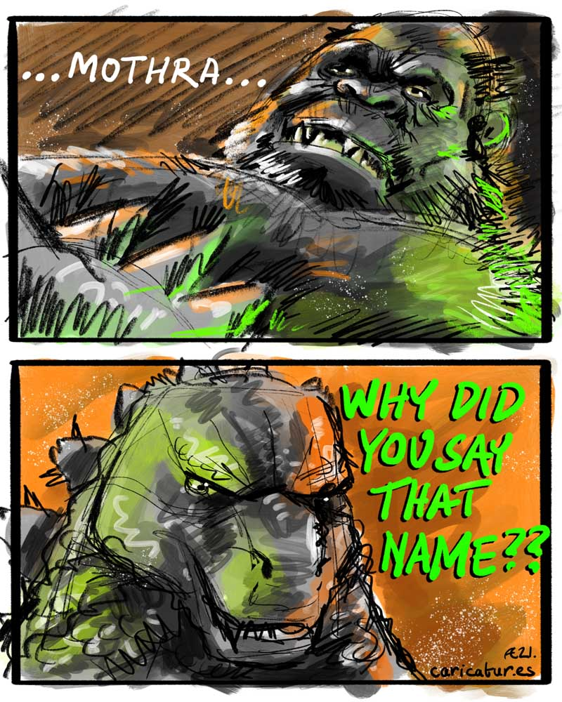 godzilla v king kong batman v superman martha mothra cartoon