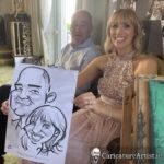 Galway Caricature Artist Wedding Reception Entertainment Gleno Abbey 13