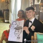 Galway Caricature Artist Wedding Reception Entertainment Gleno Abbey 2